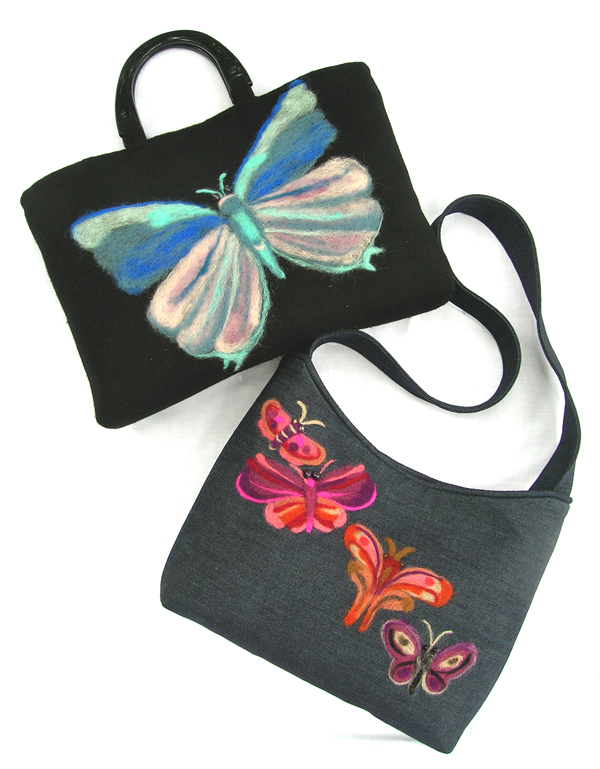 Shirley Adams Sewing Connection Butterfly Bag and Felting Procedure